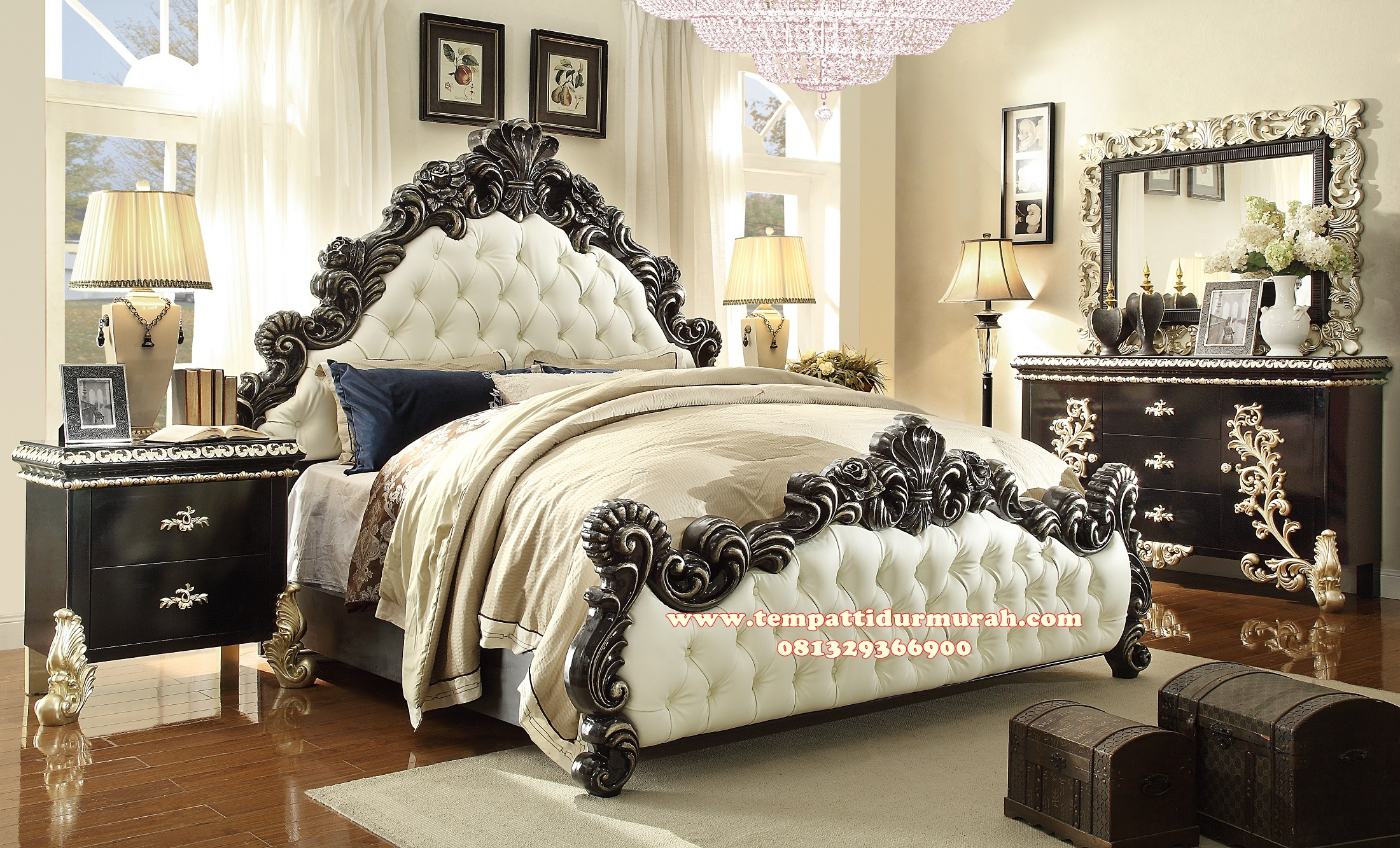Kamar Set Ukir Black Pearl King Luxury